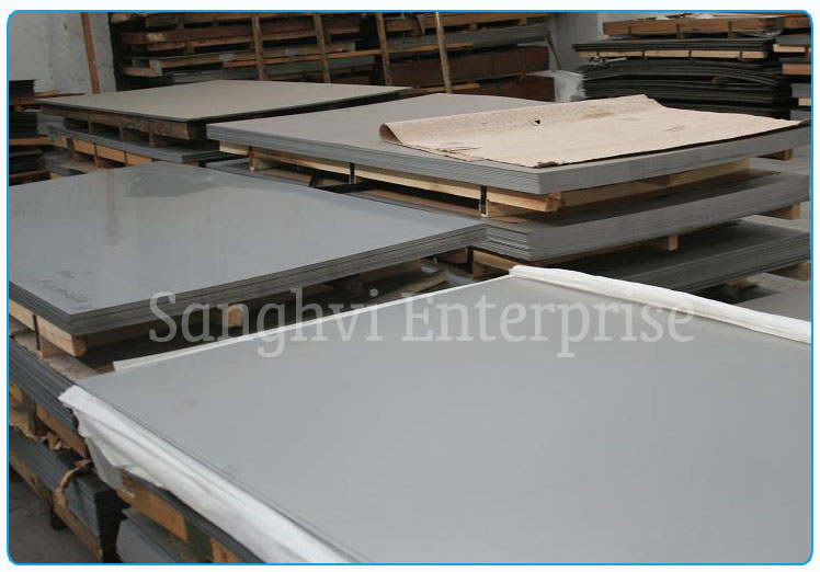 Original Photograph Of Stainless Steel Plate At Our Warehouse Mumbai, India