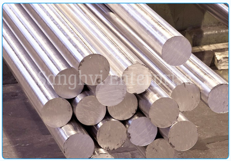 Original Photograph Of Stainless Steel Round Bar At Our Warehouse Mumbai, India