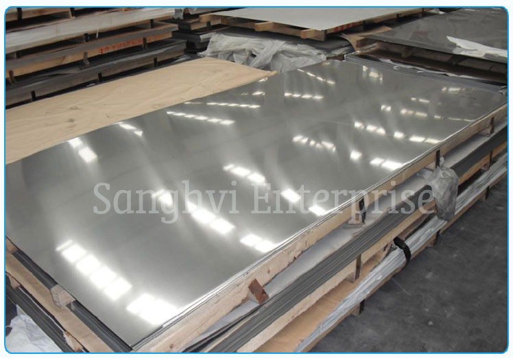 Original Photograph Of 202 Stainless Steel Plate At Our Warehouse Mumbai, India