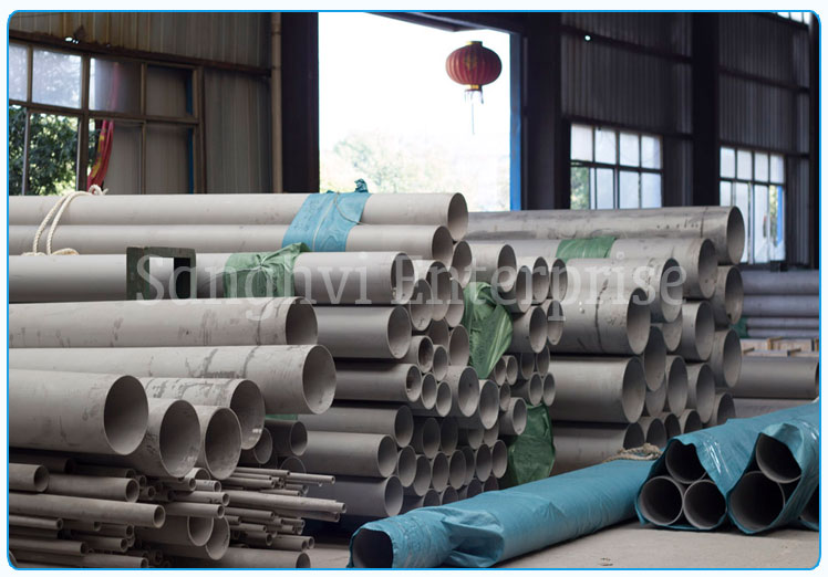 Original Photograph Of 304 Stainless Steel Pipe At Our Warehouse Mumbai, India