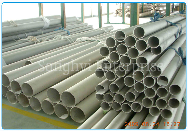 Original Photograph Of 304 Stainless Steel Tube At Our Warehouse Mumbai, India