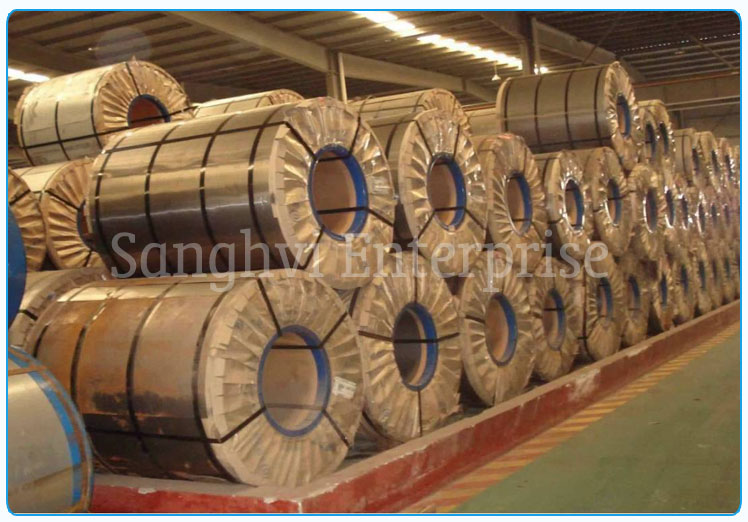 Original Photograph Of 310 Stainless Steel Coils At Our Warehouse Mumbai, India