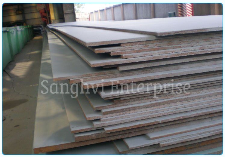 Original Photograph Of 310 Stainless Steel Plate At Our Warehouse Mumbai, India