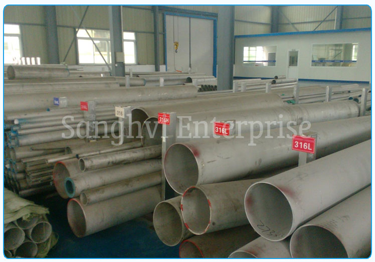 Original Photograph Of 316 Stainless Steel Pipe At Our Warehouse Mumbai, India