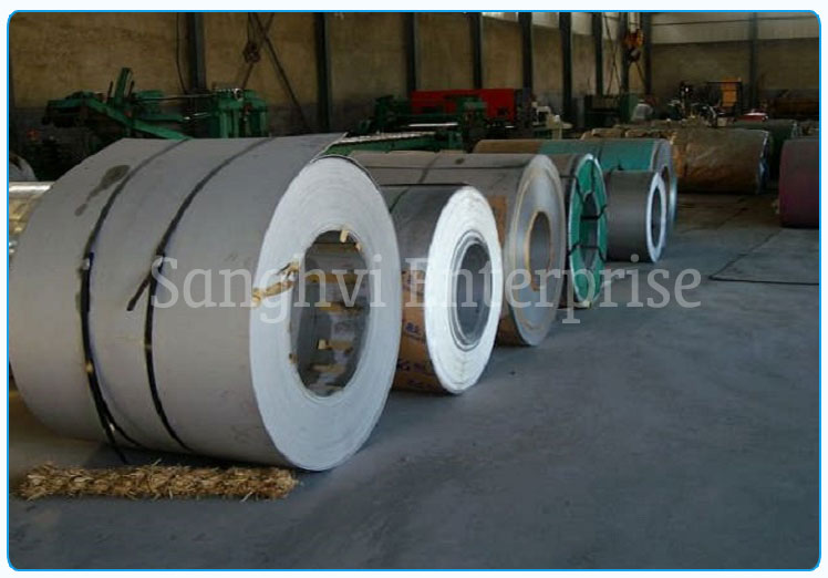 Original Photograph Of 321 Stainless Steel Coils At Our Warehouse Mumbai, India