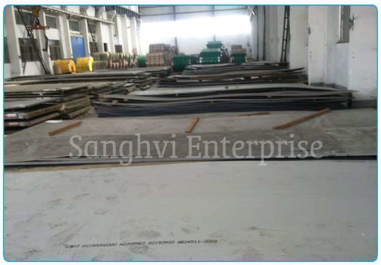 Original Photograph Of 416 Stainless Steel Plate At Our Warehouse Mumbai, India