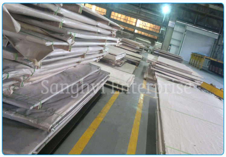 Original Photograph Of 420 Stainless Steel Sheet At Our Warehouse Mumbai, India