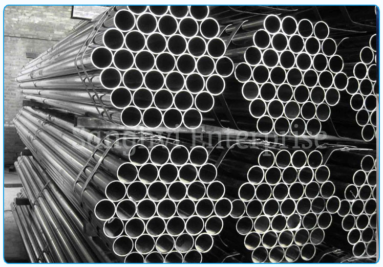 Original Photograph Of 202 Stainless Steel Welded Tube At Our Warehouse Mumbai, India