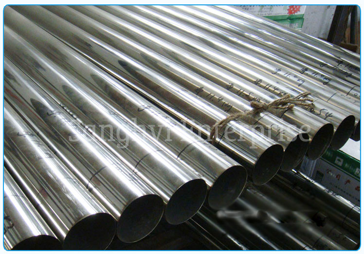 Original Photograph Of Stainless Steel 304 Welded Tubes At Our Warehouse Mumbai, India