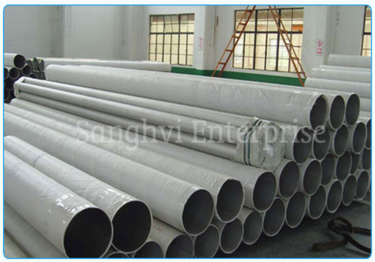Original Photograph Of 316 Stainless Steel Welded Pipe At Our Warehouse Mumbai, India