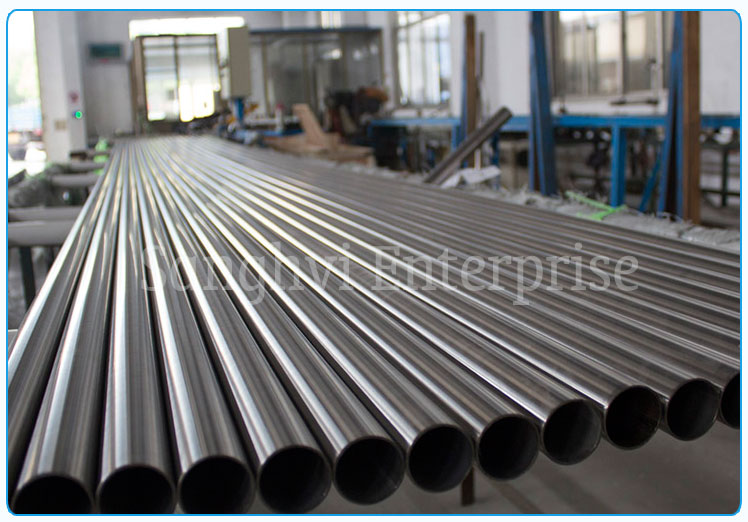Original Photograph Of 316 Stainless Steel Welded Tube At Our Warehouse Mumbai, India