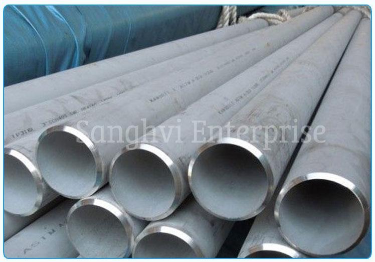 Original Photograph Of 202 Stainless Steel Seamless Pipe At Our Warehouse Mumbai, India