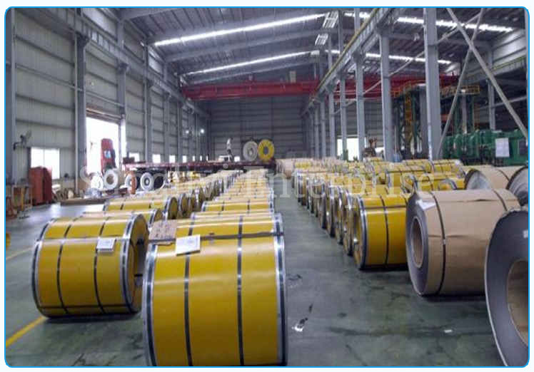 Original Photograph Of Stainless Steel Coils At Our Warehouse Mumbai, India