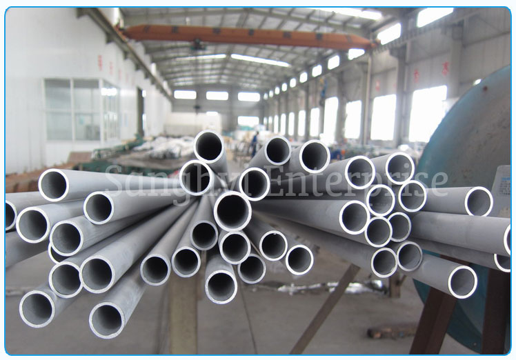 Original Photograph Of Stainless Steel Pipe At Our Warehouse Mumbai, India
