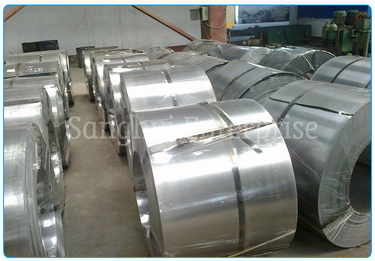 Original Photograph Of 202 Stainless Steel Coils At Our Warehouse Mumbai, India