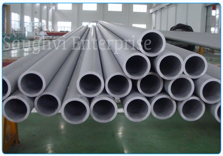 Original Photograph Of 202 Stainless Steel Pipe At Our Warehouse Mumbai, India